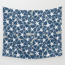 Sand Dollars, Sea Shells on the Beach Wall Tapestry