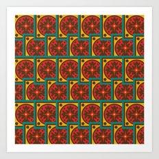 Tapestry pattern Art Print