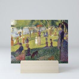 "Georges Seurat ""A Sunday on La Grande Jatte (study)"" (1884-85) Mini Art Print"