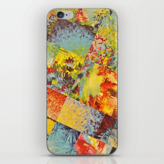 COLORFUL INDECISION 3 - Wild Vivid Rainbow Abstract Acrylic Painting Mixed Pattern Pretty Art Gift  iPhone Skin