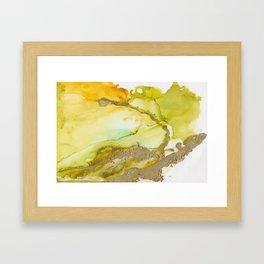Gold Abstract 3 Framed Art Print