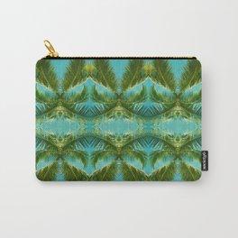 Palm Leaf Kaleidoscope (on blue sky) #1 Carry-All Pouch