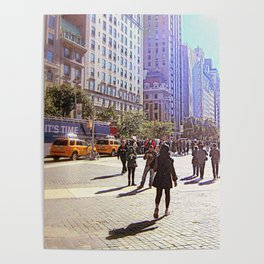 Sunny day in front of Metropolitan museum Poster