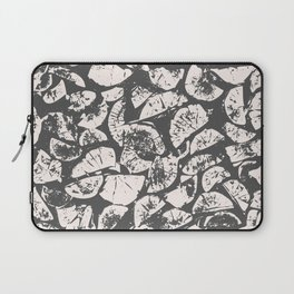 abstract pattern, Firewood texture, tree cut, gray and beige grunge wood background Laptop Sleeve