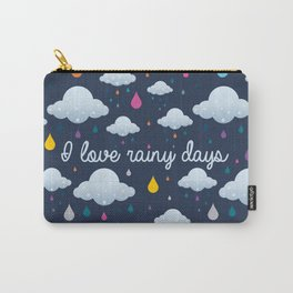 I love Rainy Days Carry-All Pouch