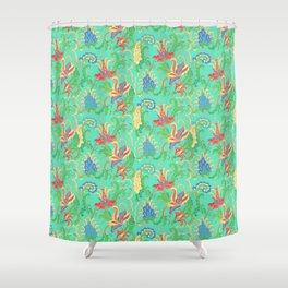 Floral fantasy, pomegranate blossom Shower Curtain