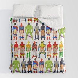 Superhero Butts Duvet Cover