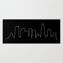 Charlotte, NC Skyline Art Print