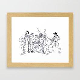 """Rock"" Band Framed Art Print"