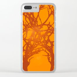 Sunlight and Tree Silhouettes Clear iPhone Case