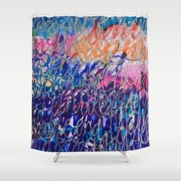 Word Galaxy Shower Curtain