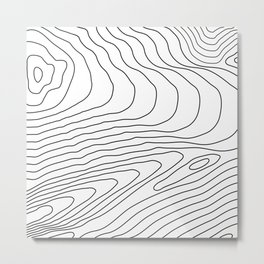 Topographic Line Pattern #440 Metal Print