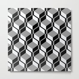 Geometric Lace Metal Print