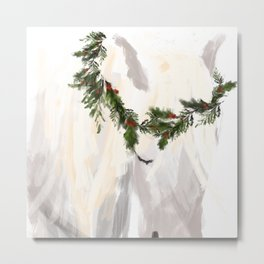 Holiday Henrietta Metal Print