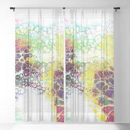 Multi Color Pour Sheer Curtain