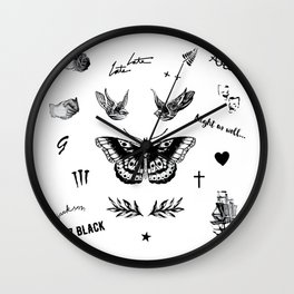 Harry's Tattoos Two Wall Clock