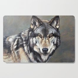 Timber Wolf by Alan M Hunt Cutting Board