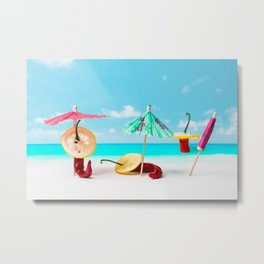 The Red, the Hot, the Chili on the beach Metal Print