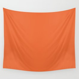 intense orange solid (matches MODEX design) Wall Tapestry