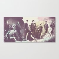 the vampire diaries Canvas Prints featuring The Vampire Diaries TV Series by Nechifor Ionut