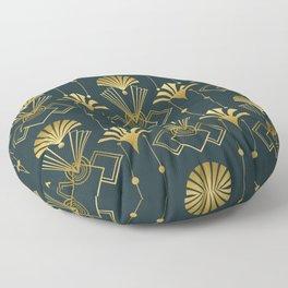 Art Deco Golden Elegance Floor Pillow