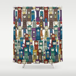 time and space white Shower Curtain