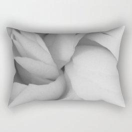 black and white close up peony Rectangular Pillow