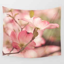 Pink Dogwood, 3 Wall Tapestry