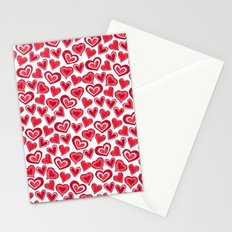 MESSY HEARTS: RED Stationery Cards
