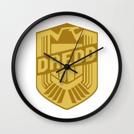 SKYF-01-015 dredd emblem Wall Clock