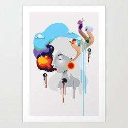 Puff. Art Print