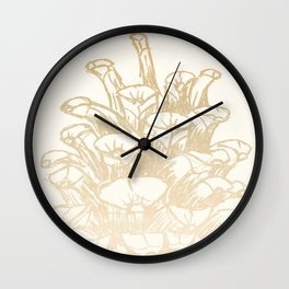 Golden Pine Cone Wall Clock