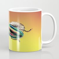 beetle Mugs featuring Beetle by Joe Ganech