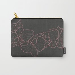 Orchid on Grey Carry-All Pouch