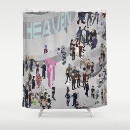 Mass Effect: Bar in Heaven (Maleshep) Shower Curtain
