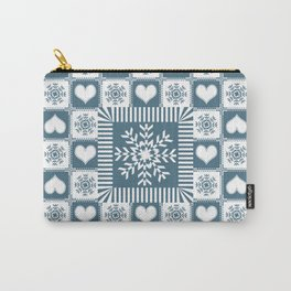 Winter Snowflake Christmas Pattern Carry-All Pouch