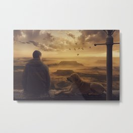 Amazing view at sunset Metal Print
