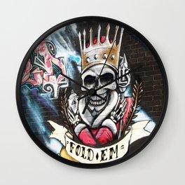 Las Vegas Skull Graffiti Wall Clock