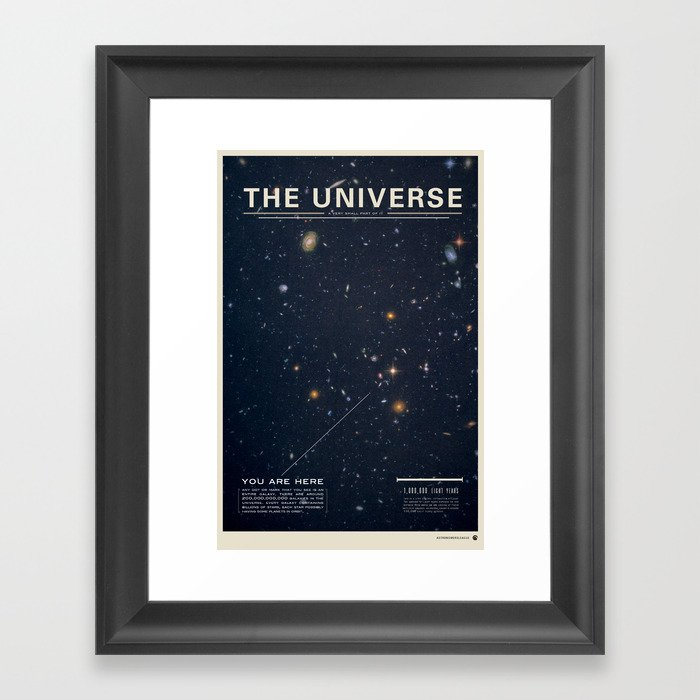 THE UNIVERSE - Space | Time | Stars | Galaxies | Science | Planets | Past | Love | Design Gerahmter Kunstdruck