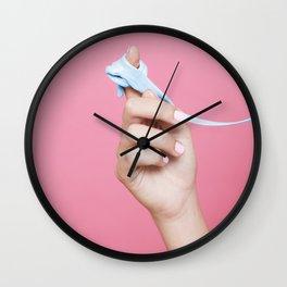 Chewed gum Wall Clock