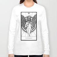 tarot Long Sleeve T-shirts featuring Temperance Tarot by Corinne Elyse
