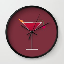 Cocktail Wall Clock