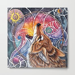 Coyotes Tells a Story Metal Print