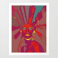 medusa Art Prints featuring MEDUSA by Julia Lillard Art