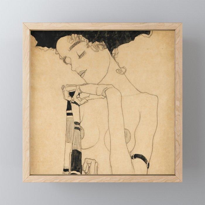 """Egon Schiele """"Standing Girl"""" Framed Mini Art Print"""