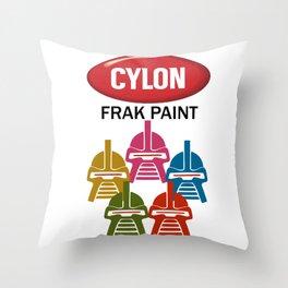 Cylon Frak Paint Throw Pillow