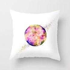 Flower planet Throw Pillow