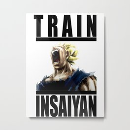 Train Insaiyan - Vegeta Metal Print