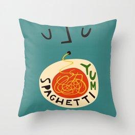 Yum Spaghetti Throw Pillow