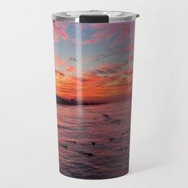 Huntington Beach Sunrise 10/30/14  Travel Mug